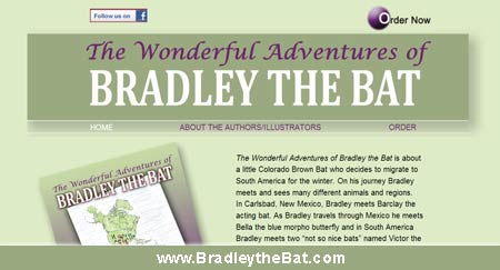 Bradley the Bat website